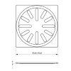 Rvs rooster voor douchesifon/vloerput, AISI 304, d = 2 mm, 100 x 100 mm
