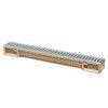 Anrin lijngoot, polyesterbeton, type SELF-100, incl. rvs sleufrooster, 100 x 10 cm