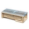 Anrin Entwässerungsrinne, Polymerbeton, Modell SELF-150, einschl. verzinktem Maschenrost, 50x15cm