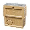 Anrin Einlaufkasten für Entwässerungsrinne, Mod. SELF-200, verz. Maschenrost u. Schlammeimer, 50cm
