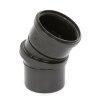 Dyka pp verdraaibare bocht 0-30°, zwart, manchet x spie, 110 mm