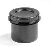 Dyka pp eindstuk met schroefdeksel, zwart, 1x spie, 75 mm