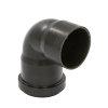 Dyka pp sifonbocht, zwart, 90°, 1x manchet/1x spie, 50 mm