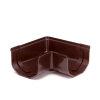 S-lon hoekstuk, pvc, 65 mm, bruin
