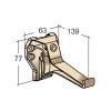 Nicoll Ovation Dachrinnenhaken, PVC, sandfarben, RAL1015, 125mm