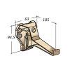 Nicoll Ovation goothaak, pvc, antraciet, RAL 7016, 170 mm