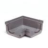 S-lon hoekstuk, pvc, 95 mm, grijs, binnen