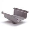 S-lon expanderende gootuitloop, pvc, 180 mm, grijs