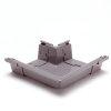 S-lon buitenhoekstuk voor bakgoot, pvc, 140 mm, grijs