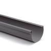 S-lon mastgoot, pvc, grijs, 125 mm, l = 4 m
