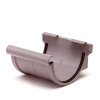 S-lon verbindingsstuk voor mastgoot, pvc, klem, grijs, 125 mm