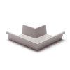 Rawinso buitenhoek voor bakgoot, polyester, lichtgrijs, RAL 7035, 170 mm