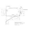 Rawinso renovatiebeugel voor bakgoot, grijs, dikte 3 mm, 120 mm
