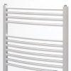 Zehnder design handdoekradiator, wit, recht, breedte 600 mm, hoogte 1200 mm, 6 aansluitingen