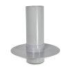 NP pvc plakplaat voor dubbelwandige ontluchtingskap, rond, 70 x 280 mm