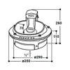 Suevia verwarmbare drinkbak, gietijzer, met lepel, type 41A  detailimage_001 100x100