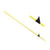 Horizont glasfiber paal voor afrastering, geel, l=125 cm, afrasteringshoogte 105 cm