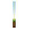 Horizont glasfiber paal voor afrastering, geel, l=125 cm, afrasteringshoogte 105 cm  detailimage_001 100x100