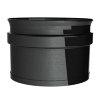 Dinak SW pellets black, enkelwandige rookgasafvoer roetverzamelaar, type 608, 80 mm