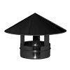Dinak SW pellets black, rookgasafvoer regenkap, type 010, 80 mm