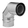 Dinak Diflux, dubbelwandige rookgasafvoerbocht 90°, type 433, 100/150 mm