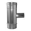 Dinak Diflux pellets, rookgasafvoer T-stuk 90°, met V-vertakking 60 mm, type 31E, 130/200 mm