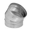 Dinak SW/SW pellets, rookgasafvoerbocht 30°, type 042, 80 mm
