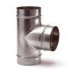 Spiraliet T-stuk 90°, 3x verjongd spie, 150 mm