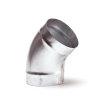 Spiraliet bocht 45°, 2x verjongd spie, 250 mm