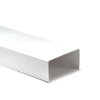 Nedco pvc ventilatiekanaal t.b.v. keukenventilatie, zonder mof, l = 1000 mm, 110 x 54 mm