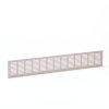 Aluminium ventilatiestrip, geanodiseerd, blank, 500 x 100 mm