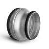 Spiraliet verloopstuk, met epdm ring, kort model, 2x verjongd spie, 200 x 100 mm