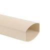 Nicoll Ovation pvc hwa buis, zand, RAL 1015, 90 x 56 mm, l = 4 m