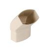Nicoll Ovation, hwa bocht 45°, pvc, inwendig lijm x verjongd spie, zand, RAL 1015, 90 x 56 mm