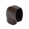 Nicoll Ovation, platte hwa bocht 87°, pvc, inwendig lijm x verjongd spie, bruin, RAL 8017, 90 x 56mm