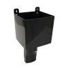 Nicoll Ovation Fallrohr PVC-Wasserfangkasten, schwarz, RAL9011, 90x56mm