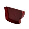Nicoll Ovation eindstuk, pvc, rechts, voor goot, rood, RAL 3004, 170 mm
