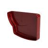 Nicoll Ovation Endstück, PVC, links, für Rinnenauslauf, rot, RAL3004, 170 mm