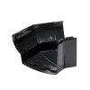 Nicoll Ovation buitenhoekstuk 135°, pvc, zwart, RAL 9011, 170 mm