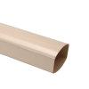Nicoll Ovation, Fallrohr, PVC, sandfarben, RAL1015, 105x76 mm, L=4m