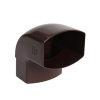 Nicoll Ovation, hwa bocht 87°, pvc, inwendig lijm x verjongd spie, bruin, RAL 8017, 105 x 76 mm