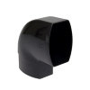 Nicoll Ovation, platte hwa bocht 87°, pvc, inwendig lijm x verjongd spie, zwart, RAL 9011, 105x76mm