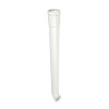 Nicoll hwa traditioneel ondereind, pvc, gebogen, wit, RAL 9010, 80 mm, l = 1 m