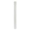 Nicoll hwa traditioneel ondereind, pvc, recht, wit, RAL 9010, 100 mm, l = 1 m