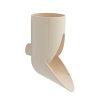 Nicoll Regenwasserablauf, PVC, gebogen, sandfarben, RAL1015, 80mm