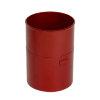 Nicoll verlengde hwa mof, pvc, inwendig lijm x verjongd spie, rood, RAL 3004, 100 mm