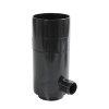 Nicoll hwa regenton vulautomaat, pvc, zwart, RAL 9011, 80 mm