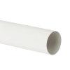 Nicoll Fallrohr, PVC, weiß, RAL9010, 50 mm, L=4m