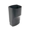 Nicoll Ovation, Fallrohr-Übergangsstück, PVC, ovalx rund, anthrazit, RAL7016, 105x76x100 mm