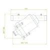 """Amiad stalen vloeistoffilter exclusief cilinderzeef, 2x bu.dr. 2""""  detailimage_001 100x100"""